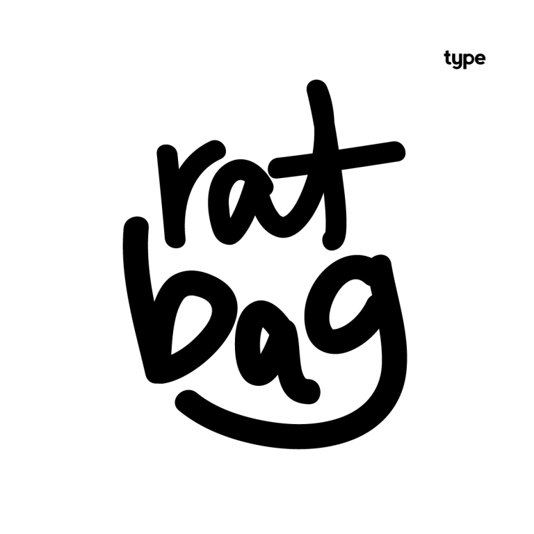 Hand drawn type for the Rat Bag.